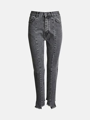 Bik Bok Mom Flow jeans - Ljusgrå