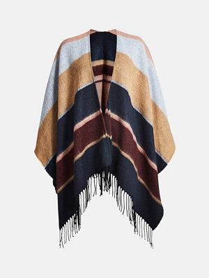 Halsdukar & scarves - Bik Bok West Poncho - Marinblå