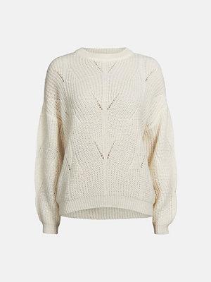 Bik Bok Felicia stickad tröja - Offwhite