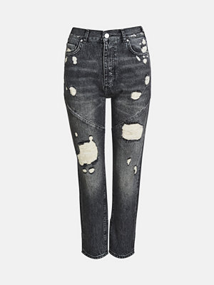Bik Bok Mom West jeans - Mörkgrå