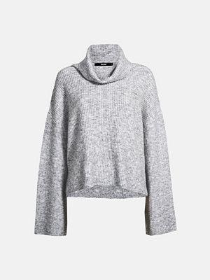 Bik Bok Caroline stickad tröja - Ljusgrå