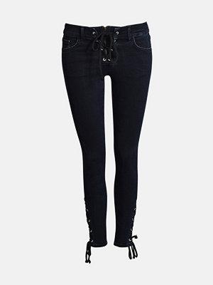 Bik Bok Icon Lace Up jeans - Mörkblå