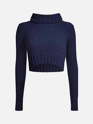 Bik Bok Nancy stickad tröja - Marinblå