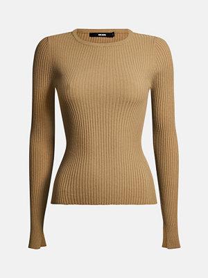 Tröjor - Bik Bok Nora stickad tröja - Cappucino