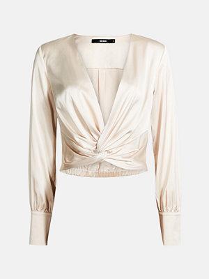 Bik Bok Twist blouse - Ljusbrun