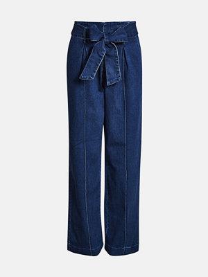 Bik Bok marinblå byxor Widez Denim pants - Blå