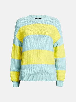 Bik Bok Orange Stripe tröja - Ljusturkos