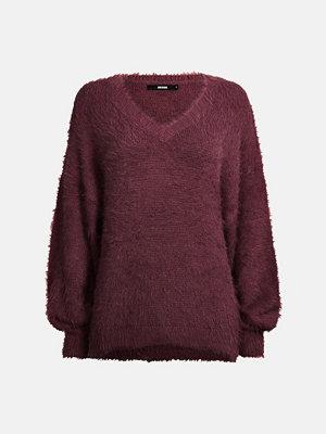 Tröjor - Bik Bok Elise knitted sweater - Vinröd