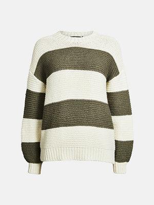 Bik Bok Orange Stripe tröja - Offwhite