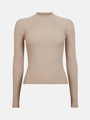 Tröjor - Bik Bok Pop tröja - Melerad ljusbrun