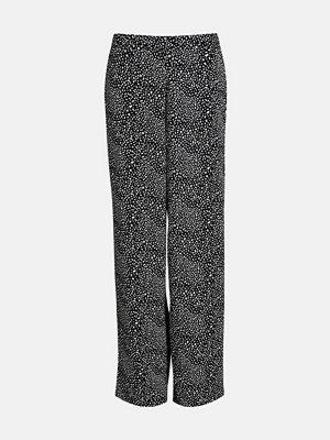 Bik Bok svarta mönstrade byxor Kendall byxa - Multi