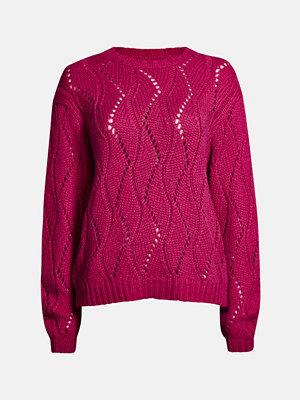 Bik Bok Leaf tröja - Mörkrosa