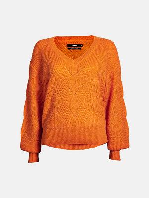 Tröjor - Bik Bok Wave tröja - Mörkorange