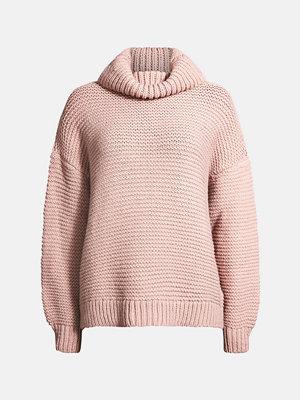 Tröjor - Bik Bok Kiwi stickad tröja - Ljusrosa
