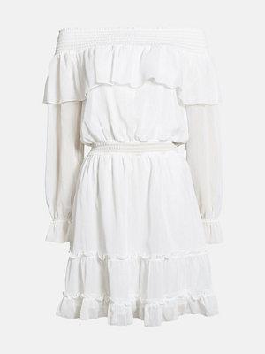 Bik Bok Ferige klänning - Vit