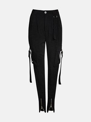 Bik Bok svarta byxor Wingwing  cargo trousers - Svart