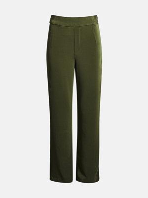 Bik Bok omönstrade byxor Andrine trousers - Mörkgrön