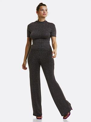 Bik Bok mörkgrå byxor Lux trousers - Multi