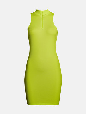 Bik Bok Own dress - Neongul