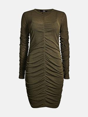 Bik Bok Mikado dress - Mörkgrön