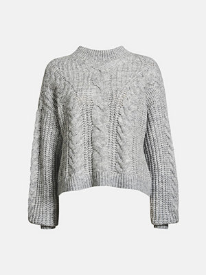 Tröjor - Bik Bok Vilje sweater - Melerad grå