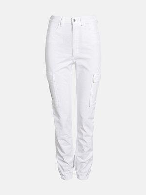 Bik Bok vita byxor Ingvill cargo trousers - Offwhite