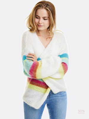Cardigans - Bik Bok Mohairy knitted jacket - Offwhite