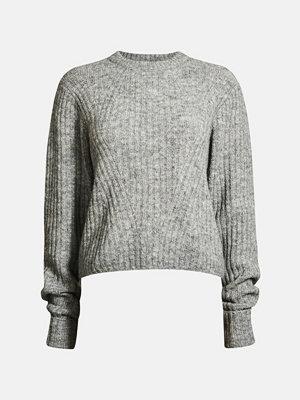 Tröjor - Bik Bok Sara knitted jumper - Melerad grå