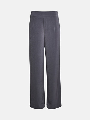 Bik Bok Andrine wide leg trousers - Mörkgrå byxor