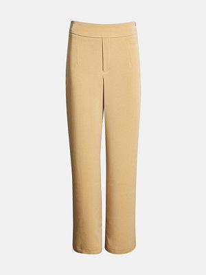 Bik Bok gula byxor Andrine wide leg trousers - Ljusbrun