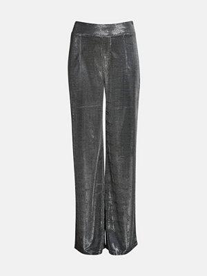Bik Bok grå byxor Silver wide leg trousers - Silver