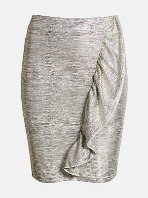 Kjolar - Bik Bok Bowie frill skirt - Silver