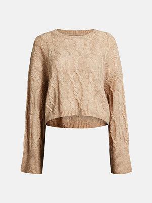 Tröjor - Bik Bok Cercei knitted jumper - Ljusbeige