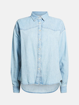 Bik Bok Kine cotton denim shirt - Blå