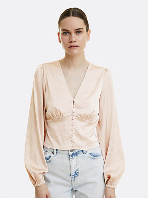 Bik Bok Chain satin blouse - Beige