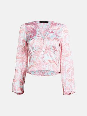Skjortor - Bik Bok Chain satin blouse - Multi