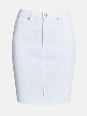 Bik Bok Rachel White denim skirt  - Vit