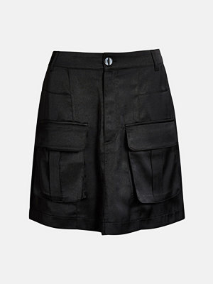 Bik Bok Alberta satin skirt - Svart