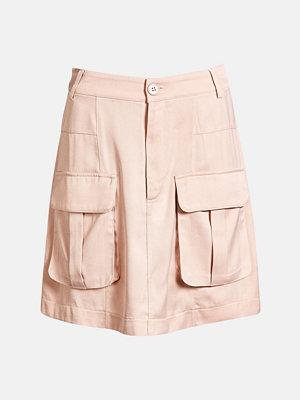 Bik Bok Alberta satin skirt - Ljusrosa