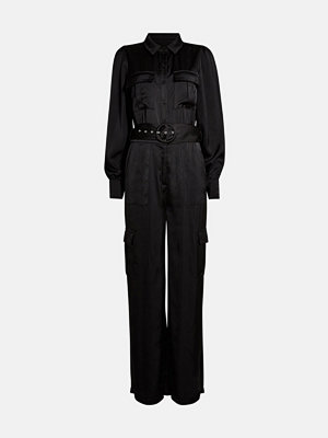 Jumpsuits & playsuits - Bik Bok Willie flared leg jumpsuit - Svart