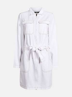 Bik Bok Clover White cotton denim dress - Vit