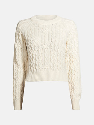 Bik Bok Paris cable knit jumper - Offwhite