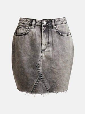 Bik Bok Sasha Grain denim skirt - Ljusgrå