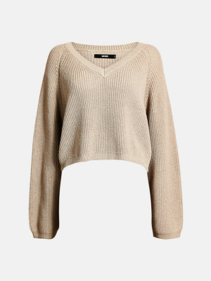 Bik Bok Wendy ribbed jumper - Ljusbeige