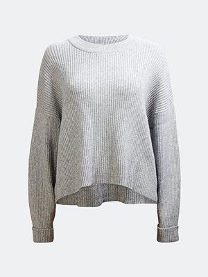 Tröjor - Bik Bok Tallo rib-knit jumper - Melerad grå