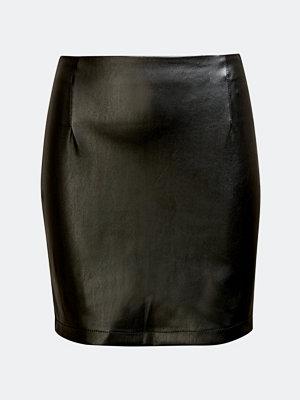 Bik Bok Dakota imitation leather skirt - Svart
