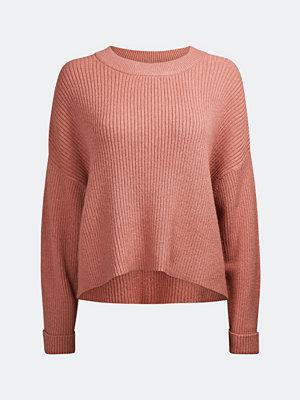 Tröjor - Bik Bok Tallo rib-knit jumper - Mörkrosa