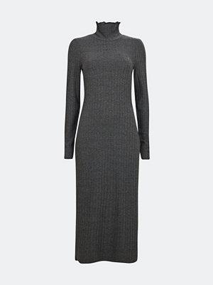Bik Bok Kira high neck klänning - Melerad mörkgrå