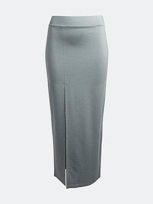 Bik Bok Zenda fitted skirt - Metallblå