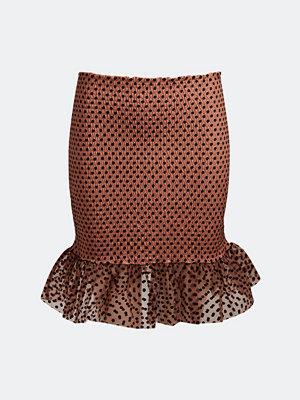 Bik Bok Wendy smocked organza skirt - Brun